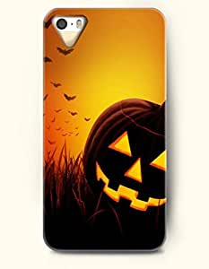 OOFIT iPhone 5 5s Case - All Saints' Eve Jack-O'-Lantern And Bats