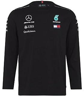 d5a76b8b Mercedes Benz AMG Formula 1 Petronas Black 2018 Long Sleeve Drivers T-Shirt