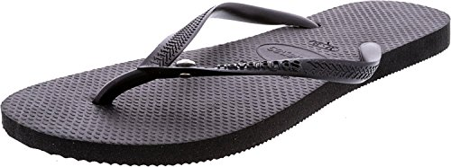Havaianas Women Slim Crystal - Havaianas Women's Slim Flip Flop Sandals, Crystal Glamour SW,Black,39/40 BR (9-10 M US)