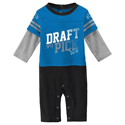 (Outerstuff NFL Detroit Lions Newborn & Infant Draft Pick Long Sleeve Coverall Crimson, 24 Months)