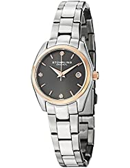 Stuhrling Original Womens 414L.04 Classic Ascot Swarovski Crystal-Accented Stainless Steel Watch