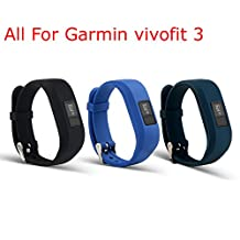 ULT-unite Colorful Replacement Strap Accessory Wristbands for Garmin Vivofit 3(No tracker, Replacement Bands Only)