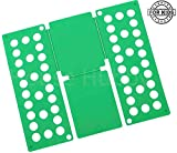 House Hubby T Shirt Folder - Kids Sized Folding Board for T-Shirts, Dress Shirts, Pants, Towels to Fold Your Garments and Laundry Fast (Green, Child)
