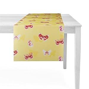 Camino de mesa (weichsch AUM material con atractiva bedruckung 40x 150cm en 4colores, amarillo