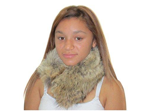 Natural Coyote Neck Warmer & Collar (Coyote Fur Headband)