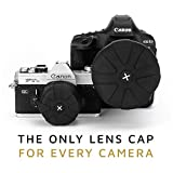 KUVRD Universal Lens Cap 2.0 - Fits 99% DSLR Lenses, Element Proof, Lifetime Coverage, Magnum, Single Lens Cap
