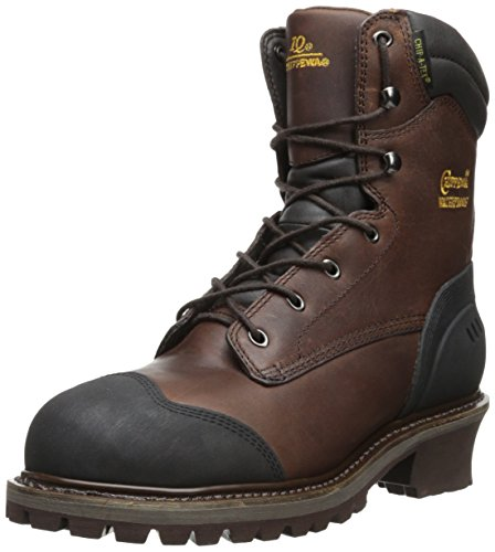 Chippewa Men's 8 Inch Choc Brown Oil Leather WP Comp Toe Boot,Brown,9 M US
