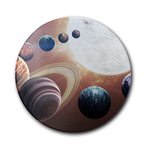 UJNB-Home Planet Of The Solar System Ceramic Stone Coaster Coasters Set Cork Coaster For Mugs And Cups by UJNB-Home