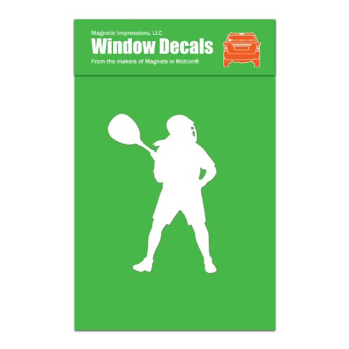 Magnetic Impressions Lacrosse Goalie Female Car Window Decal White