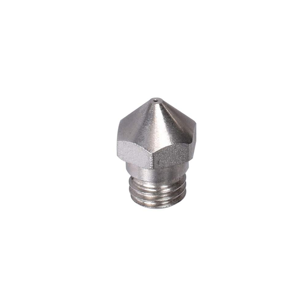 6 Pcs 3D Printer M7 Thread MK10 Stainless Nozzles .2mm .3mm .4mm .5mm .6mm .8mm for 1.75MM Filament Makerbot V2 Wanhao Dremel FlashForge PowerSpec Cocoon Create
