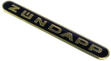 Z/ündapp Tankemblem schwarz-Gold 13 x 1,5 cm Tank Emblem Plakette Logo oval