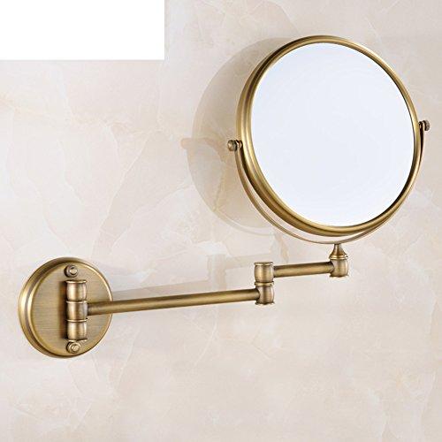 Bathroom Vanity Mirror European Style Retractable Wall Mounted Folding