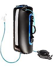 CenYC Bolsa de ducha solar para camping, 20 L, portátil, multifuncional, solar, bolsa de calefacción, para playa, viajes al aire libre, senderismo