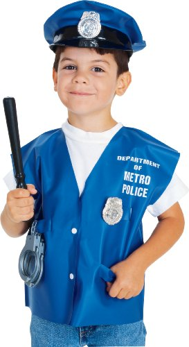 Childs Policeman Halloween Costume Accessory Kit, Blue, Standard