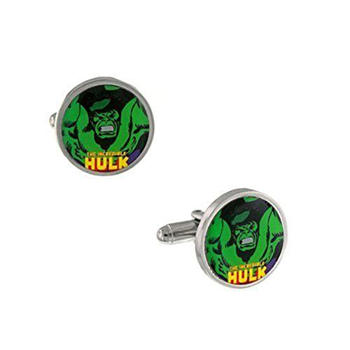 [Marvel Comics Jewelry Incredible Hulk Strong and Fearless Cufflinks Cuff Links 7026] (Incredibles Costumes Designer)