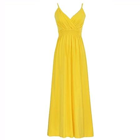 Falda de Playa para Mujer con Falda Amarilla de Verano, Falda Sexy ...