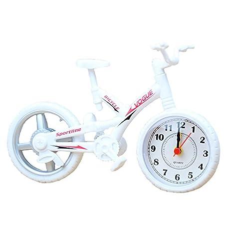 jarown creative artistic retro bike desk clock model for office home bedside decotation white