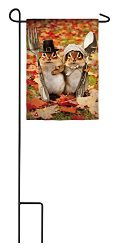 Evergreen Colonial Gothic Satin Garden Flag, 12.5 x 18 inches ()