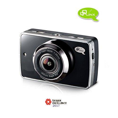 Qqlinx Eagle Eye Dash Cam  Full Hd 1080P 185 Wide Angle View Sony Sensor Night Vision Wdr G Sensor   Auto File Lock Backup Parking Mode 8Gb Sd Card