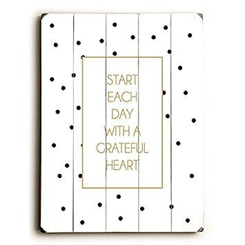 338ccdbbfec74 Amazon.com: Start Each Day With A Grateful Heart by Artist Amanda ...