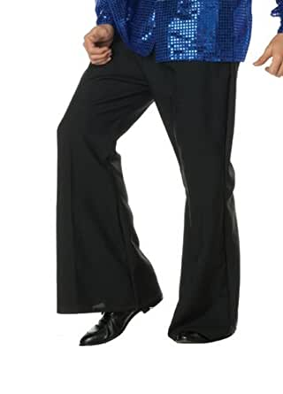 70's Dance Fever Mens Halloween Black Bell Bottoms