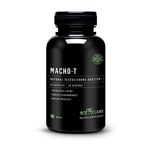 Macho-T Natural Testosterone Booster: Enhance Performance, Male Libido, Energy And Endurance. Testosterone Supplement Clinically Proven Fenugreek Extract, Horny Goat Weed And Tribulus Terrestris
