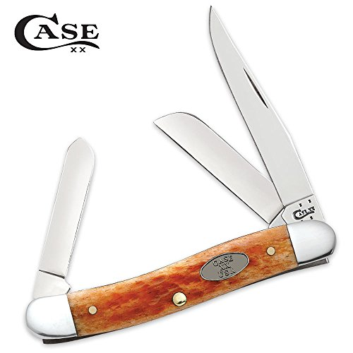 Buck Trapper (Case Medium Whiskey Bone Stockman Pocket Knife)