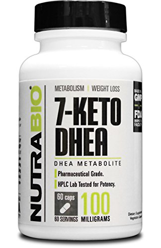 NutraBio 7-KETO DHEA 100mg - 60 Vegetable Capsules