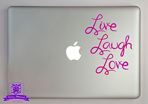 "Live Laugh Love Typography 11"" Laptop Specialty Vinyl Decal - Purple-Metal-Flake"