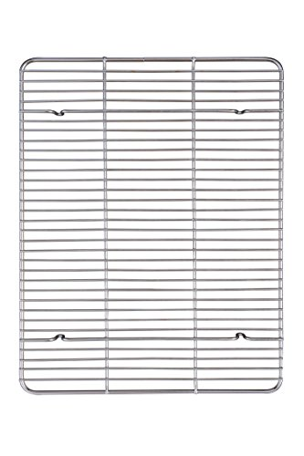 Mrs. Anderson's Baking 43187 Professional Baking and Cooling Rack, 16.5-Inches x 13-Inches, Chrome-Plated Steel Wire
