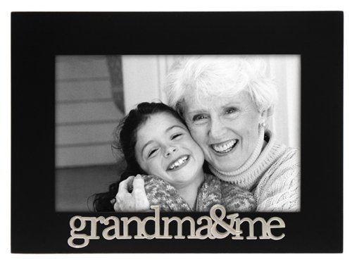 Grandma and Me Expressions Picture Frame, 4x6, Black