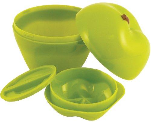 Hutzler Snack Attack Apple & Dip To-Go Set, Green