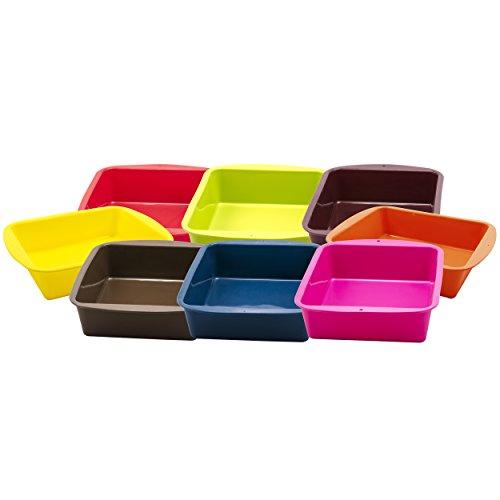 Marathon Housewares KW200015AU Premium Silicone Deep Dish Casserole Pan, Aubergine