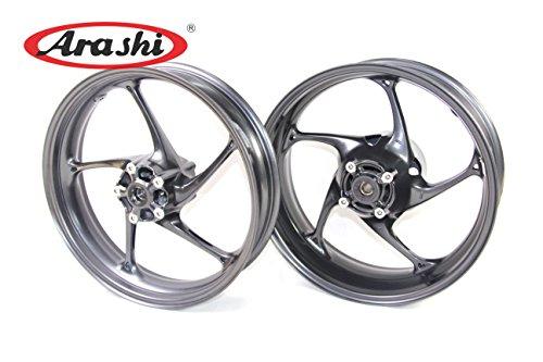 Arashi Wheel Rim Front and Rear for Triumph Daytona 675R Street Triple 675 R 2013 2014 2015 Motorcycle Replacement Accessories Black 13 14 15 (675 Triumph Triple Daytona Rear)