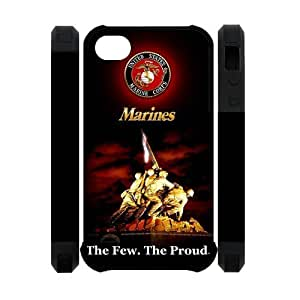 US Marine Corps USMC Iphone 4 4S Dual-Protect Cover Case U.S. Marines Army Proud