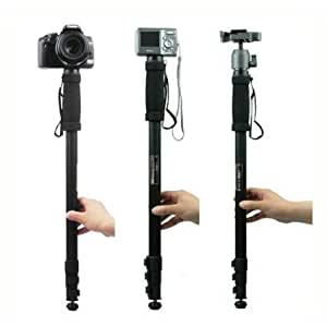 Xinkaize New Quality 1.7m 4 Section Extendable Aluminium Pole Monopod Leg Stand para Camera&Camcorder