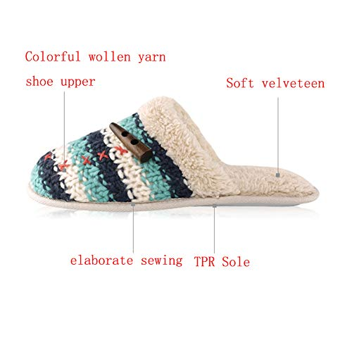 Leather On Slippers Home Memory Grey Slip Slippers Clog Women Plush Warm Indoor Slippers Foam Wool Fleece Knit Soft House 0tnPwZq