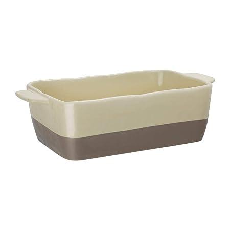 Olympia DB520 - Fuente de horno (cerámica), color crema y gris ...