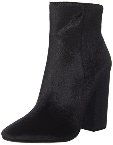 Windsor Smith Damen Vera Kurzschaft Stiefel Schwarz (Black Velvet)