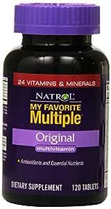 Natrol My Favorite Multiple Original Multivitamin Tablets, 120 Count (Pack of 2)