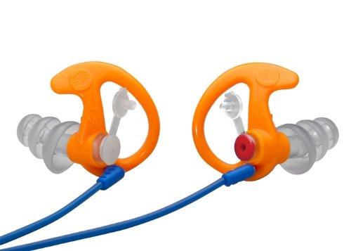 SureFire EP4 Sonic Defenders Plus filtered Earplugs, triple flanged design, reusable, Orange, Medium by SureFire