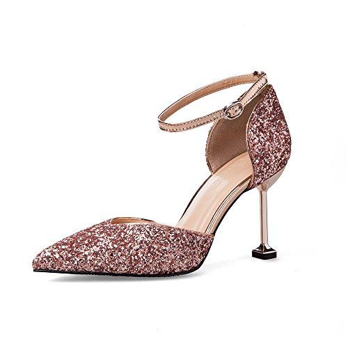 987edcec Caliente de la venta Zapatos De Mujer Tacones Altos Lentejuelas Sexy Boca  Poco Profunda Puntiagudo Tacones De Aguja Sandalias De Dama ...