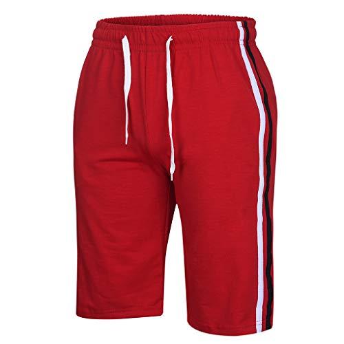 Ensembles Uribaky Courtes Stripe À Leisure Summer Collision Mens Sports Color Rouge Shorts Manches Minces FwrF8Pq