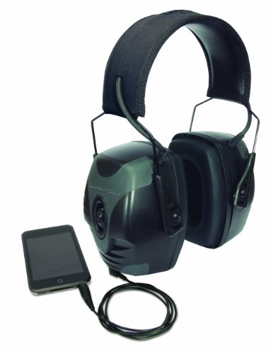 033552019022 - Howard Leight by Honeywell Impact Pro Sound Amplification Electronic Shooting Earmuff, Black & Grey (R-01902) carousel main 1