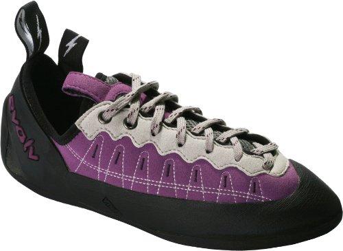 evolv Women's Elektra Lace Climbing Shoe,Violet/Grey,6.5 M US, Outdoor Stuffs
