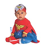 Rubies DC Comics Baby Wonder Woman Onesie and Headpiece, Red