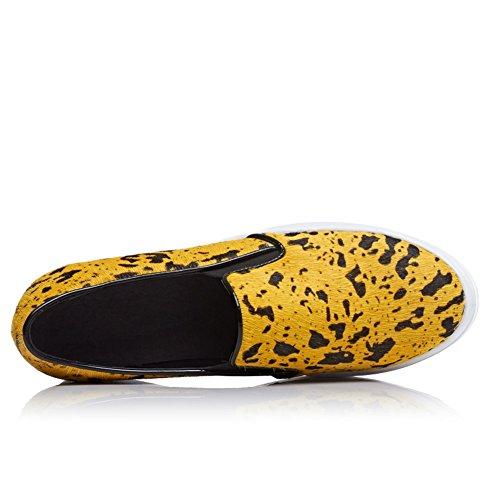 1TO9 1TO9Mms05378 - Sandali con Zeppa donna, Giallo (Yellow), 35