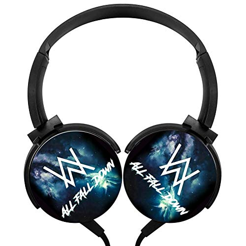 Wired Headset Alan -Walker Wired Bluetooth Headphones Unisex Over-Head Hi-Fi Stereo Customized Foldable Headsets -