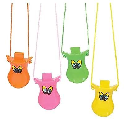 Rhode Island Novelty Multicolor Duck Call Whistles - One Dozen (12): Toys & Games
