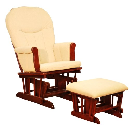 AFG Athena Deluxe Glider Chair - Cherry